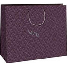 Ditipo Dárková papírová taška 38 x 10 x 29,2 cm fialová geometrický vzor