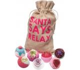 Bomb Cosmetics Vánoční relax - Santa Says Relax mix balistiků 7 x 160 g, kosmetická sada