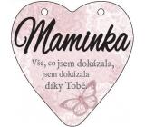 Albi Závěsná plaketka srdce Maminka 9 cm x 10 cm