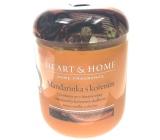 Heart & Home Mandarinka s kořením Sojová vonná svíčka velká hoří až 70 hodin 340 g