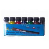 Art e Miss Univerzální akrylátová barva lesklá sada 7 x 12 g
