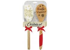 EP Line Silikonová stěrka a vařečka 1 balení, vánoční set