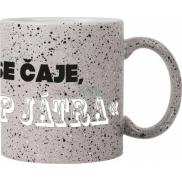 Albi Kameninový hrnek Napij se čaje šedý 570 ml