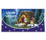 Nekupto Přání obálka na peníze vánoční Betlém 116 x 220 mm OJ