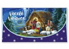 Nekupto Přání obálka na peníze vánoční Betlém 116 x 220 mm