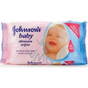 Johnsons Baby Wipes Skincare Vlhčené ubrousky 64 kusů