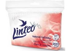 Linteo Care & Comfort jemné vatové tyčinky sáček 200 kusů