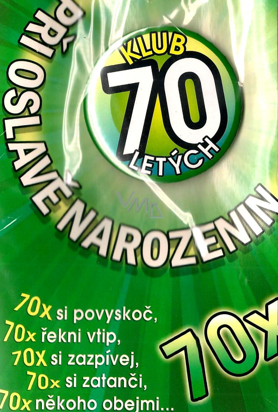 přání k 70 tým narozeninám Nekupto Přání k narozeninám Klub 70 letých   VMD drogerie přání k 70 tým narozeninám