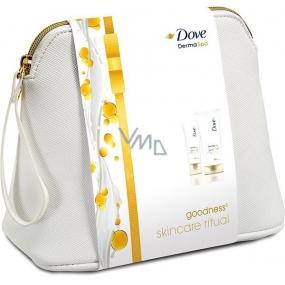 Dove Derma Spa Goodness3 krém na ruce 75 ml + Derma Spa Goodness3 tělové mléko 200 ml + kosmetická taška, kosmetická sada