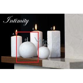 Lima Mramor Intimity vonná svíčka bílá koule průměr 80 mm 1 kus