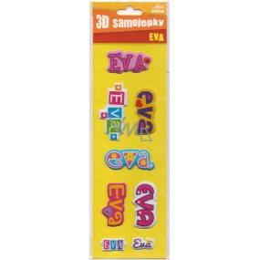 Nekupto 3D Samolepky se jménem Eva 8 kusů 027