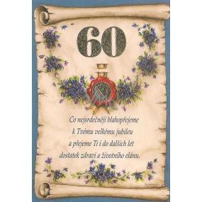 Nekupto Přání k narozeninám 2003 60 G 60 srdečné blahopřání