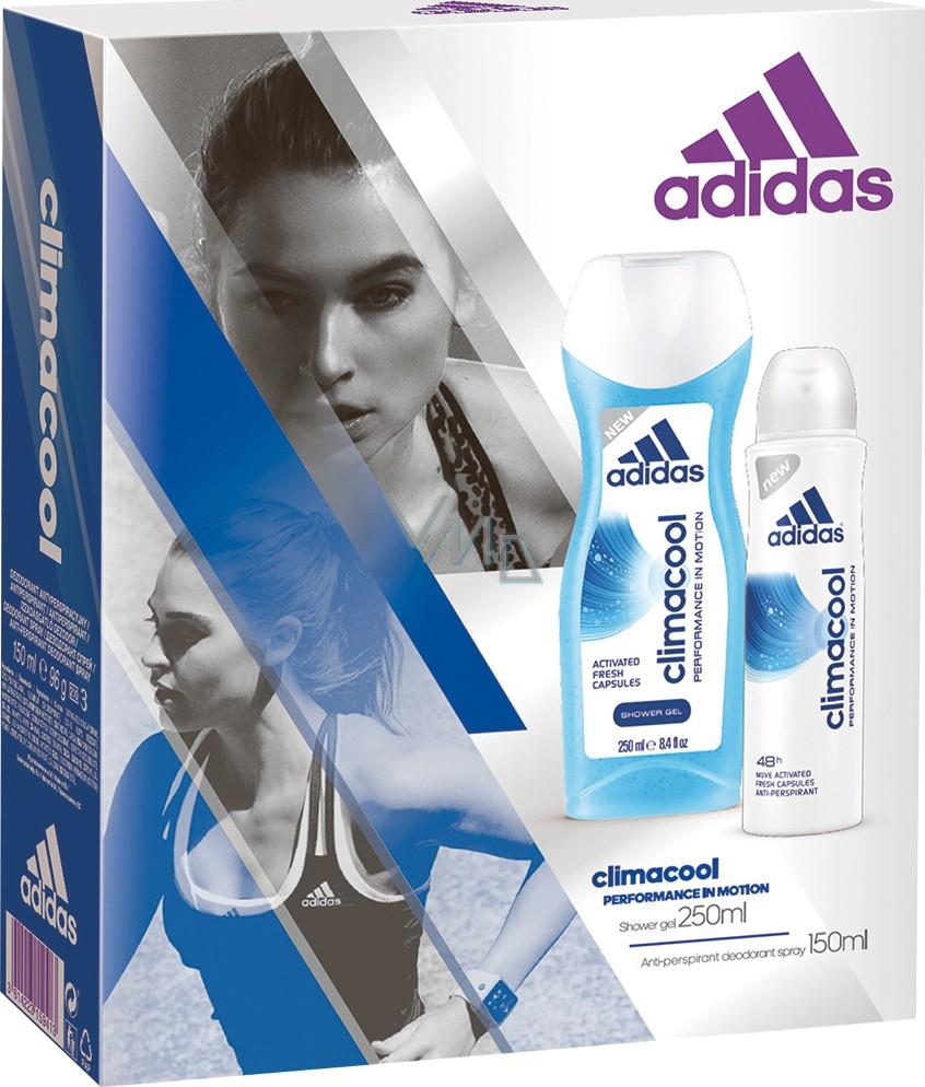 Adidas Climacool deodorant antiperspirant spray for women 150 ml Climacool shower gel 250 ml, cosmetic set