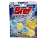 Bref Perfume Switch Marine-Citrus WC blok s vůní svěžesti a citrusu efekt změny vůně 50 g