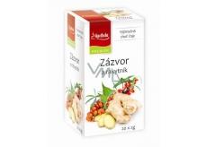 Apotheke Natur Zázvor a rakytník ovocný čaj napomáhá k trávení, dýchání a duševní pohodě 20 x 2 g