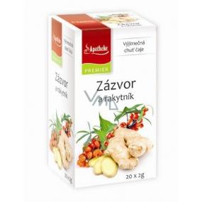 Apotheke Natur Zázvor a rakytník ovocný čaj napomáhá k trávení, dýchání a duševní pohodě,20 x 2 g