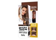 Delia Cameleo Hair & Root Korektor zakrývá kořeny a šedé vlasy Light Brown 4,6 g