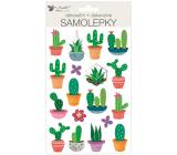 Samolepky plastické Kaktusy 14 x 25 cm