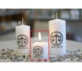 Lima Horoskop Váhy svíčka krychle 45 x 45 mm 1 kus