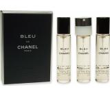 Chanel Bleu De Chanel toaletní voda náplně pro muže 3 x 20 ml