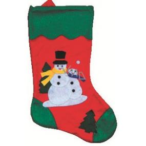 636b153579a Mikuláš   Santa vánoční punčocha s motivem sněhuláka 43 cm 1 kus ...