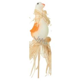 Husa s oranžovými křidélky zdobená lýkem zápich 8 cm + špejle