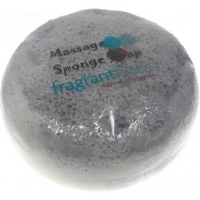 Fragrant Courage Olive Glycerinové mýdlo masážní s houbou naplněnou vůní parfému Diesel Only the Brave v barvě šedobílé 200 g