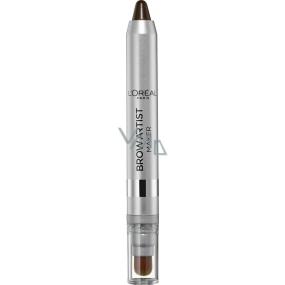 Loreal Paris Brow Artist Maker tužka na obočí se štetečkem 04 Dark Brunette 1,5 g