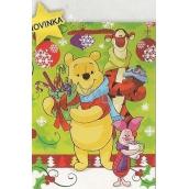 Nekupto Dárková papírová taška 33 x 26 x 13 cm Medvídek Pú Vánoční 1187 WLGL