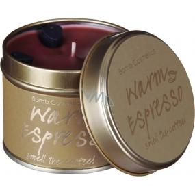 Bomb Cosmetics Teplé Espresso Vonná přírodní, ručně vyrobena svíčka v plechové dóze hoří až 35 hodin