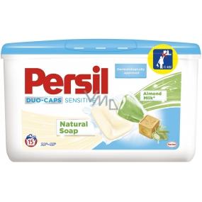 Persil Sensitive Duo-Caps gelové kapsle na bílé a stálobarevné prádlo 15 dávek x 25 g