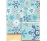 Nekupto Vánoční balicí papír Světle modrý, vločky 2 x 0,7 m