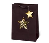 BSB Luxusní vánoční dárková papírová taška 36 x 26 x 14 cm Star Festival VDT 417 - A4