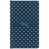 Albi Deluxe Bloček Zlaté puntíky linkovaný, tmavě modrý 9,5 cm x 15,5 cm x 1,5 cm
