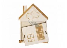 Albi Dřevěná kapsa na peníze Dům 13,2 x 18 x 0,6 cm