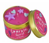 Bomb Cosmetics Třpytivé děvče - Sparkle, Girl! Vonná přírodní, ručně vyrobena svíčka v plechové dóze hoří až 35 hodin