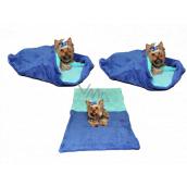 Marysa pelíšek - pytel 3v1 je určen pro štěňátko, koťátko, hlodavce nebo fretku XL 60 x 150 cm modrý/tyrkys