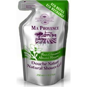 Ma Provence Bio Mandlové květy Pravý přírodní sprchový gel náhradní náplň 250 ml