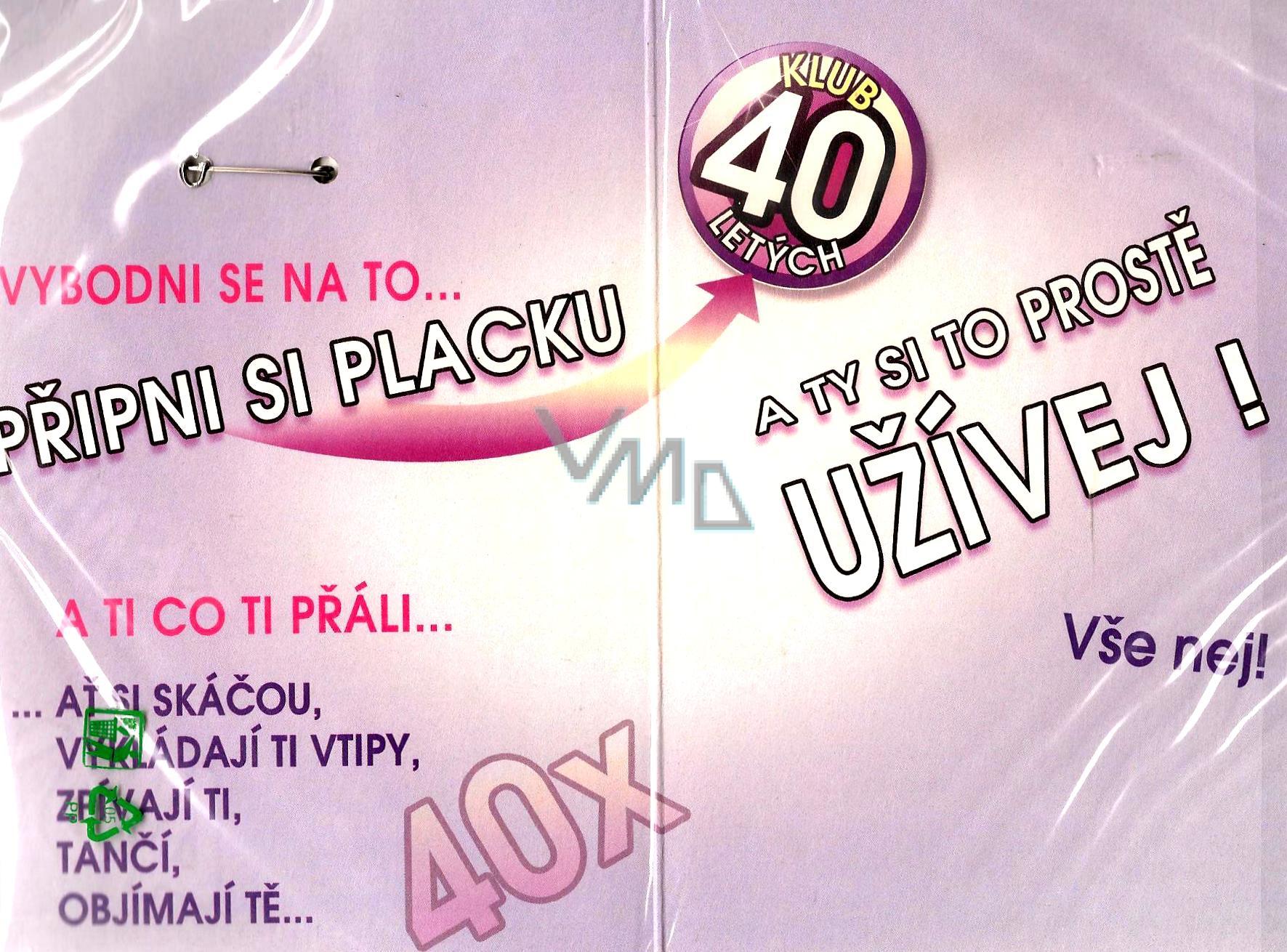prani k 40 narozeninam Nekupto Přání k narozeninám Klub 40 letých   VMD parfumerie   drogerie prani k 40 narozeninam