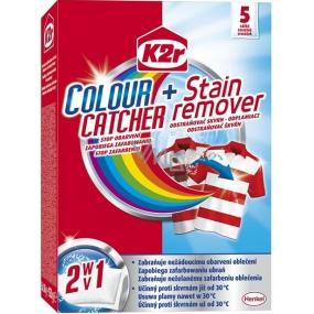 K2r Colour Catcher + Stain remover Stop obarvení + odstraňovač skvrn 5 kusů