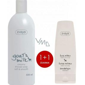 Ziaja Kozí mléko sprchový krém 500 ml + Kozí mléko krém na ruce a nehty 80 ml suchá pokožka, duopack