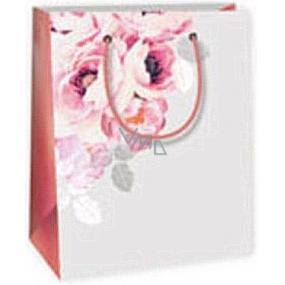 Ditipo Dárková papírová taška 11,4 x 6,4 x 14,6 cm šedá růže