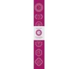 Vonné tyčinky Sedmá čakra Růžová 14 kusů