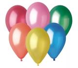 Balónky nafukovací metalické mix barev 26 cm 100 kusů v sáčku