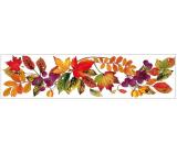 Room Decor Okenní fólie pruh s podzimním listím 59 x 15cm č.2