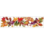 Okenní fólie bez lepidla pruh s podzimním listím 59 x 15cm č.2