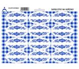 Arch Samolepky na kořenky s modrým ornamentem Bez názvu - k dodatečnému popisu (např. pro čaje, speciální koření)