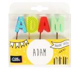 Albi Dortové svíčky jméno - Adam, 2,5 cm