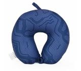 Albi Cestovní polštář Tmavě modrý se vzorem 30 x 28 x 10 cm