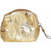 Albi Eko taštička mini vyrobená z pratelného papíru Zlatá 8 x 7,5 x 3 cm